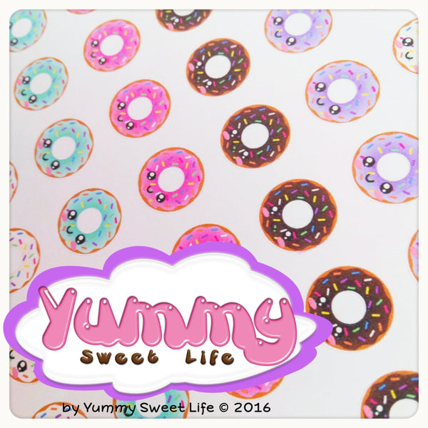Kawaii Donuts Hole Reinforcements Stickers