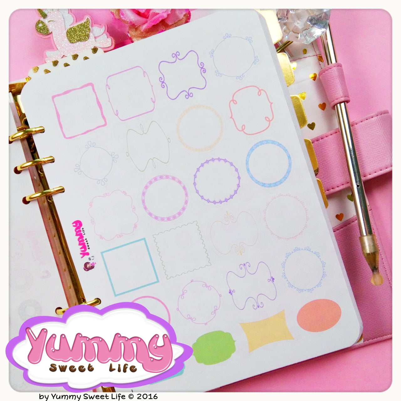 Rainbow Frames Labels Stickers