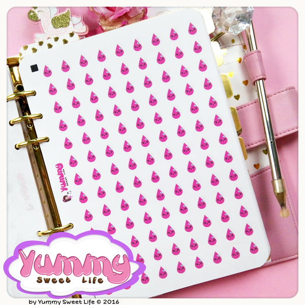 Kawaii Girly Period Stickers