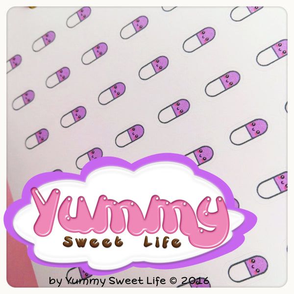 Kawaii Girly Pills Stickers