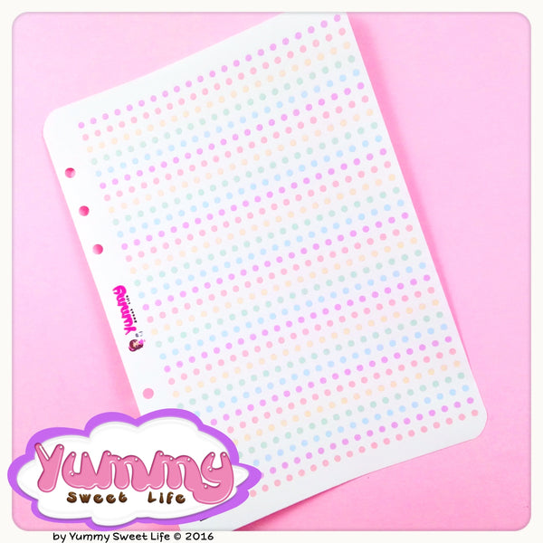 Rainbow To Do Dots Stickers
