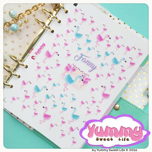 Fanny the Tiffany Flamingo Stickers