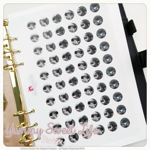 Kawaii Moon Lunar Phases Stickers