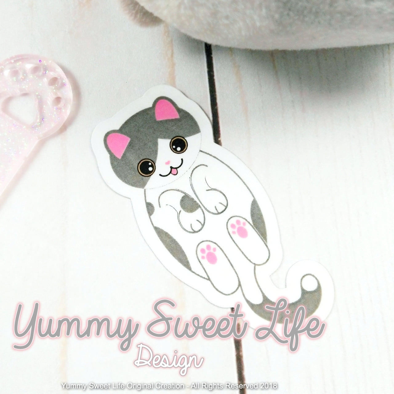 Katwaii Cute cat Paperclip Die Cut