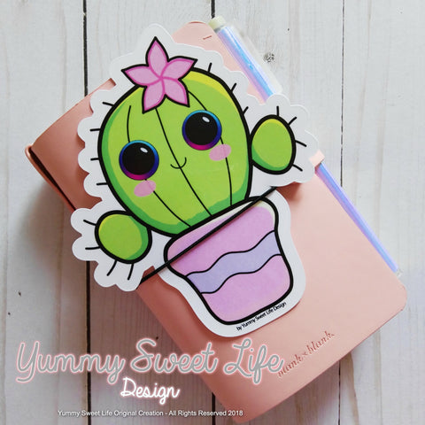 Cute Succulent Big Die Cut