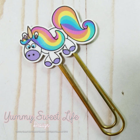 Rainbow the Unicorn Paperclip