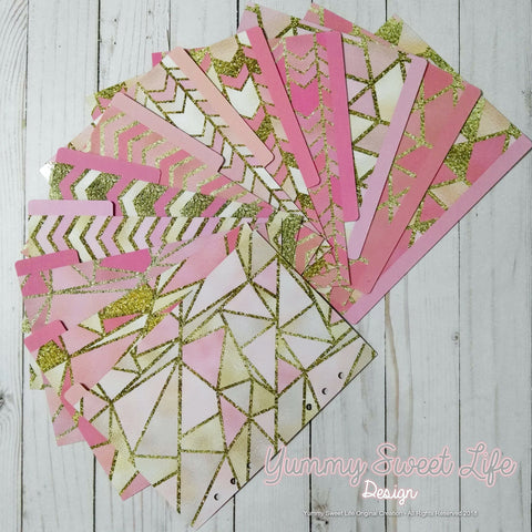 Dividers - Pink and Gold Glitter Set