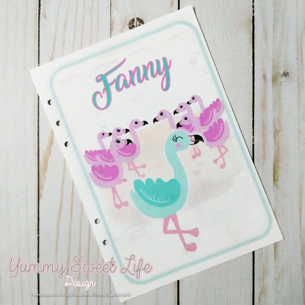 A5 Fanny the Tiffany Flamingo Monthly Insert