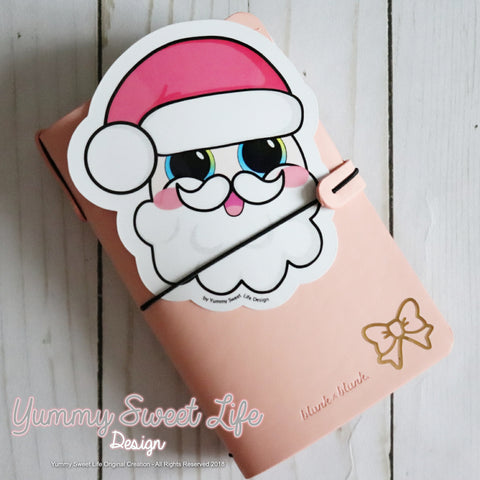 Cute Santa Head Big Die Cut