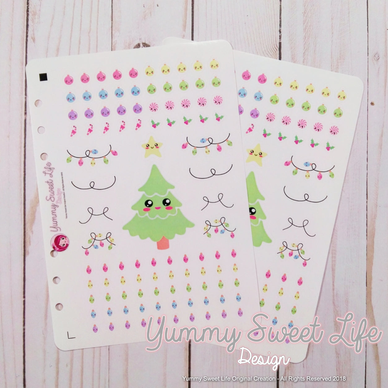 Kawaii Christmas Tree Decor Stickers