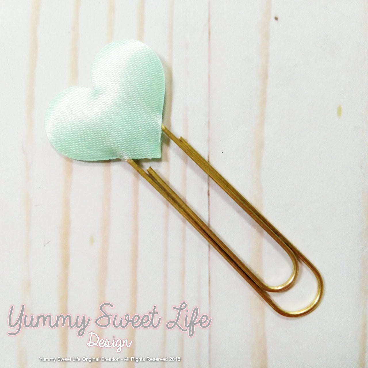 Fabric Heart Paperclip