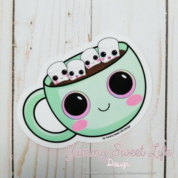 Cute Hot Chocolate Big Die Cut