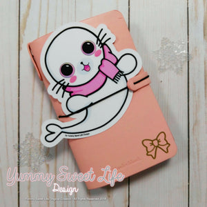 Cute White Seal Big Die Cut