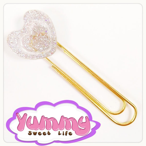 Heart Resin Paperclip