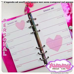Personal - Square Heart Weekly Insert
