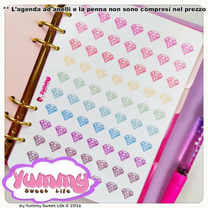 Rainbow Diamonds Stickers