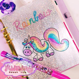 Holographic Dashboard Rainbow the unicorn A5