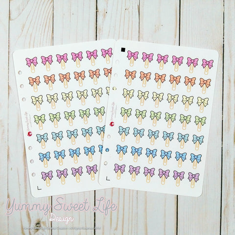 Bow Paperclip Stickers