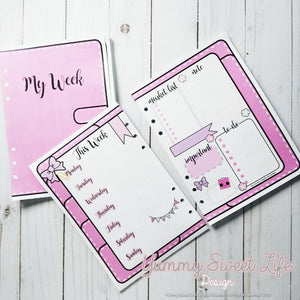 A5 My Week planner Insert