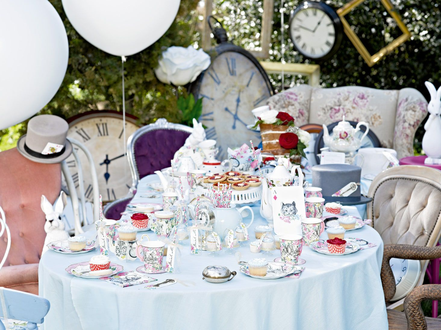 Alice in Wonderland Party Ideas | Throw an Alice in Wonderland Tea Party with ideas for Food, Decorations & Fancy Dress
