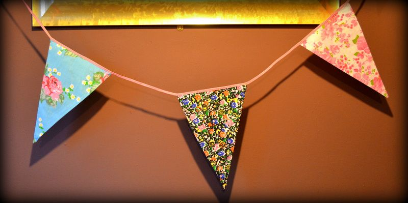 Floral Fabric Bunting