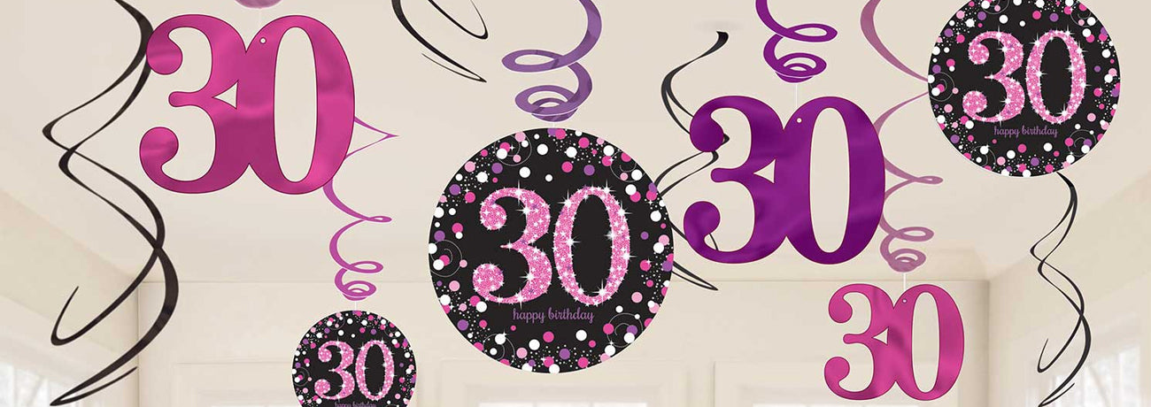 30th Birthday Pink Celebration Party Supplies