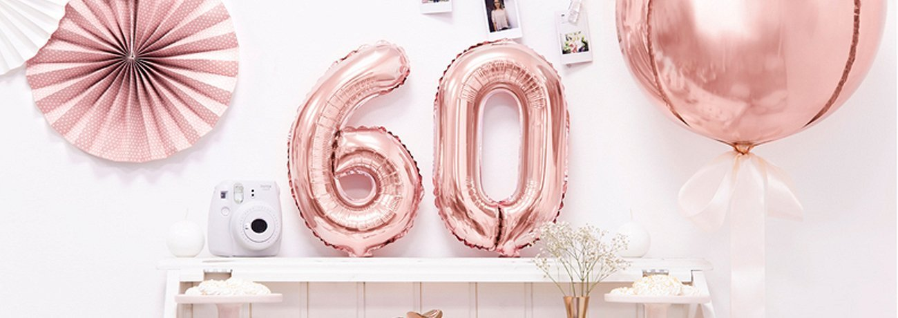 60th birthday party ideas, 60th party decorations and 60th birthday decorations