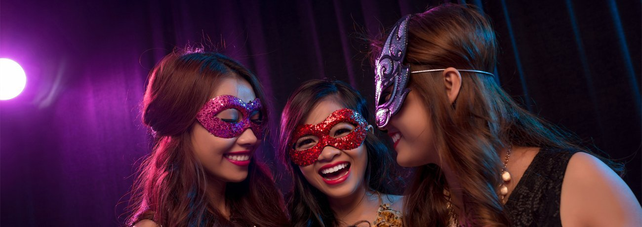 fancy dress masks, including party masks