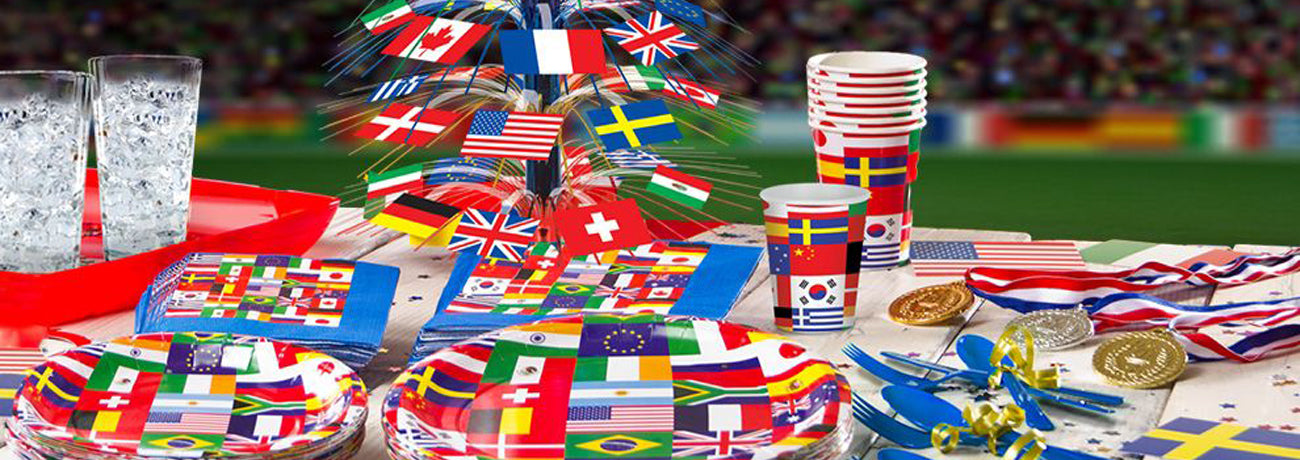 International Flag Party Decorations & Tableware