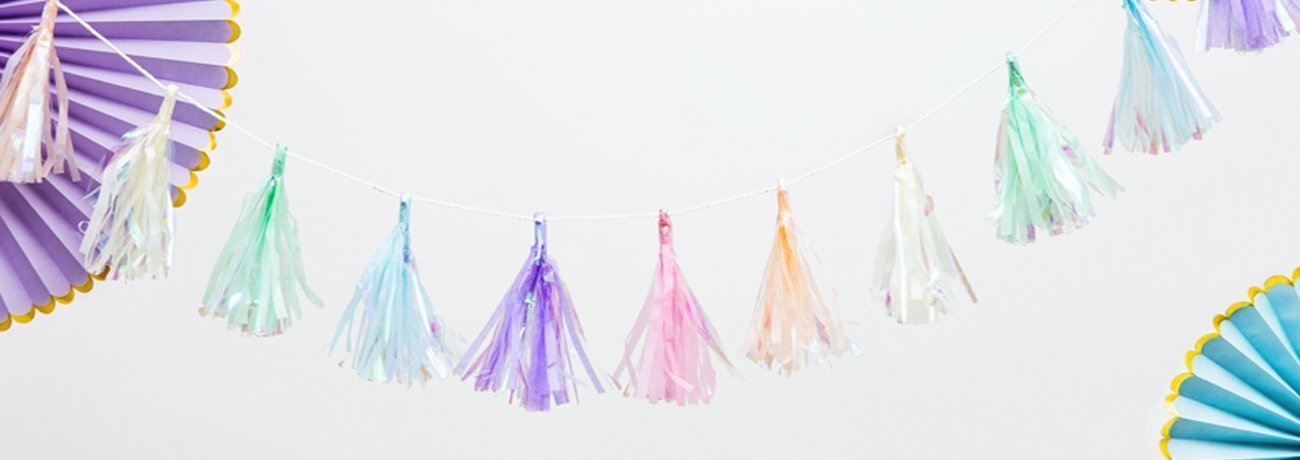 tissue paper decorations, including paper party decorations