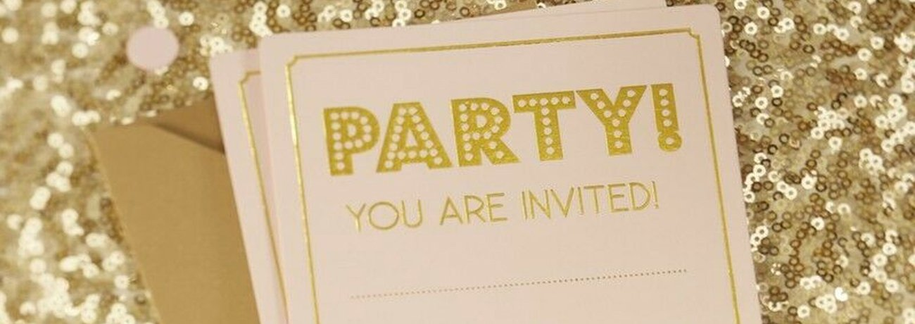 Party Invitations and Thank You Cards