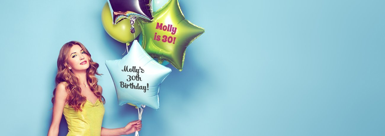 personalised balloons uk, personalised helium balloons, personalised balloons and personalised birthday balloons
