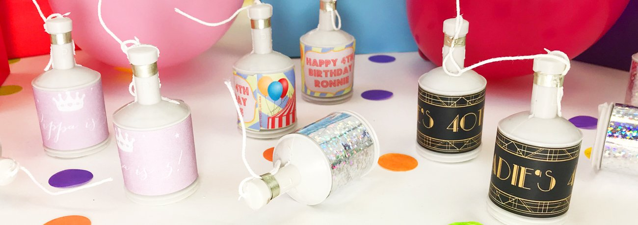 Personalised Party Poppers