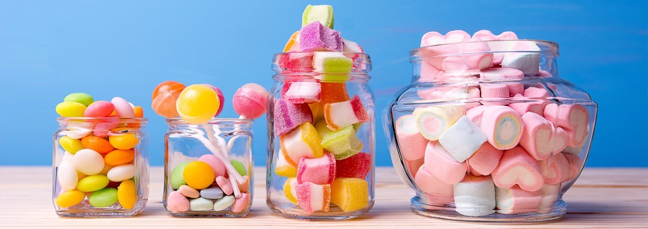 Sweets, Chocolates & Containers
