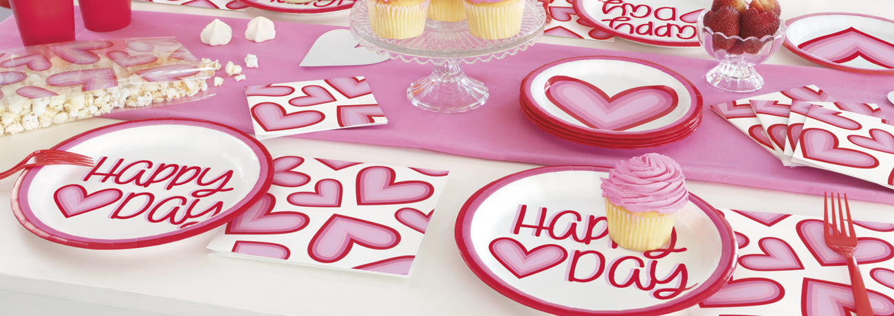 Valentine's Day Tableware & Decorations