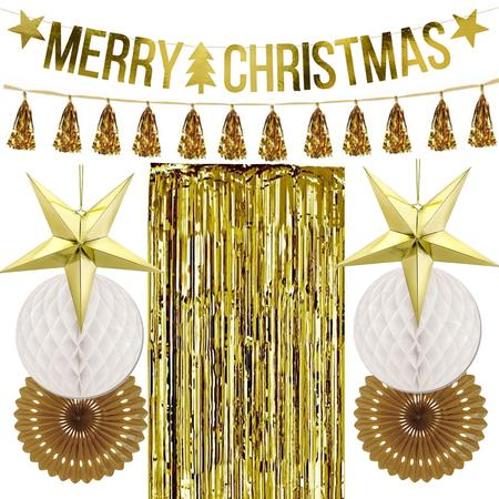Gold Star Christmas Decoration Pack