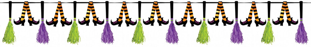 Witches Shoes and Broomstick Garland