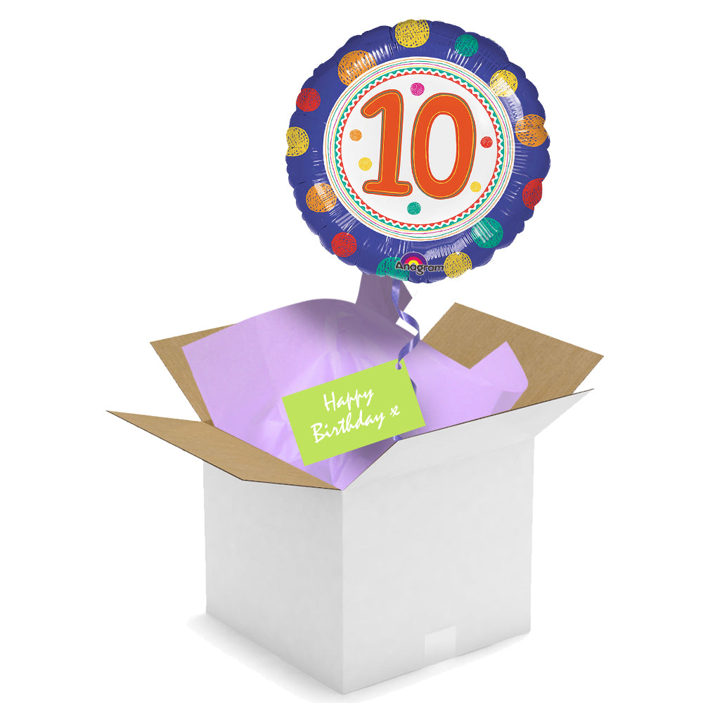 Send a Balloon - 10th Birthday Spots
