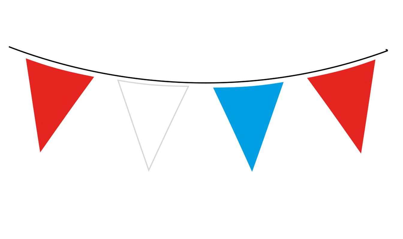 Giant Plastic Red, White & Blue Bunting - 10m