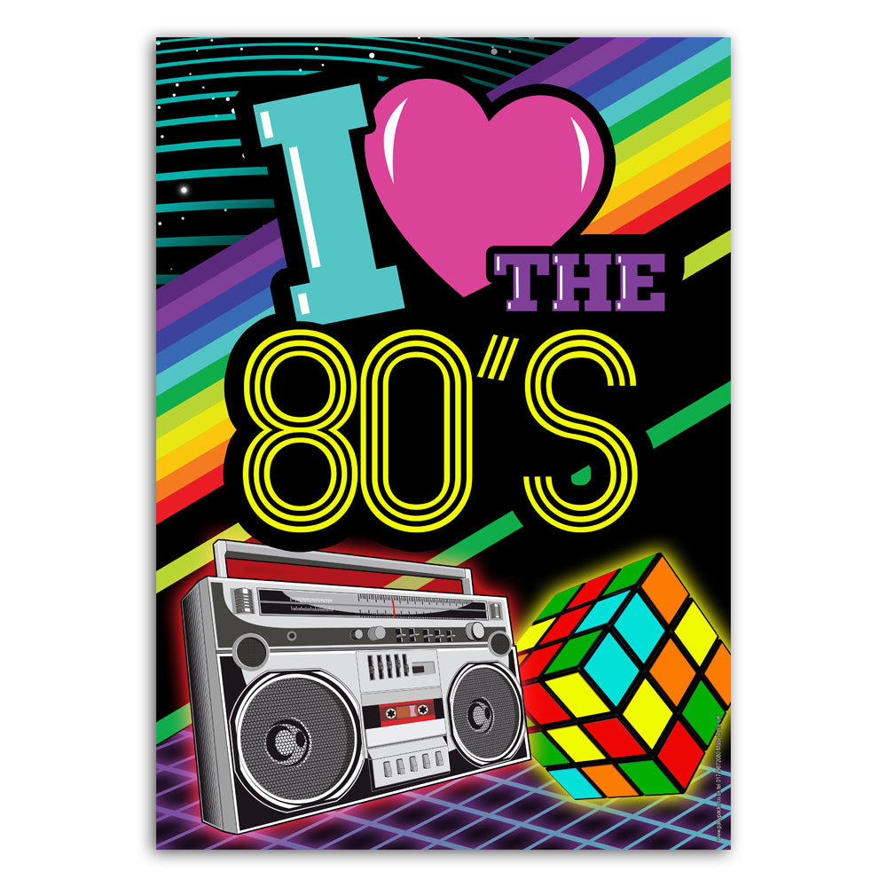 I Love the 80's Poster Decoration - A3