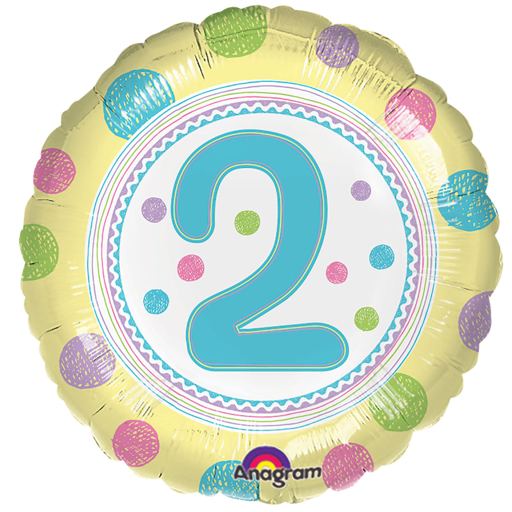2nd Birthday Spots Foil Balloon - 18""