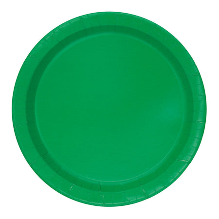Green Paper Plates