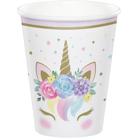 Unicorn Baby Party Paper Cups - 9oz - Pack of 8