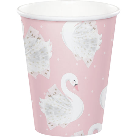 Stylish Swan Party Paper Cups - 9oz - Pack of 8