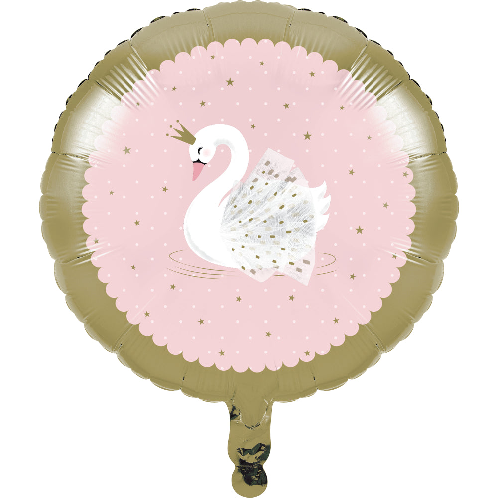 Stylish Swan Party Foil Balloon - 18""