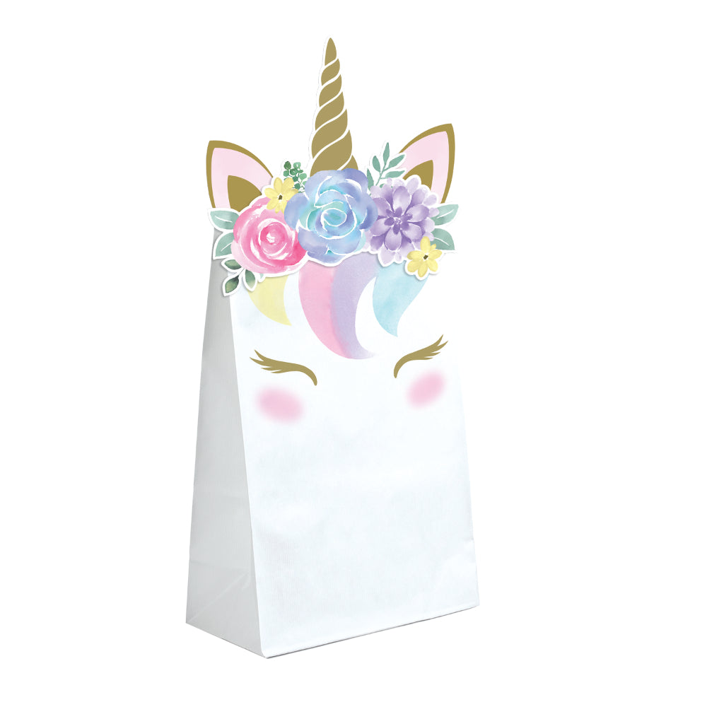 Unicorn Baby Shaped Paper Treat Bags - Pack 8