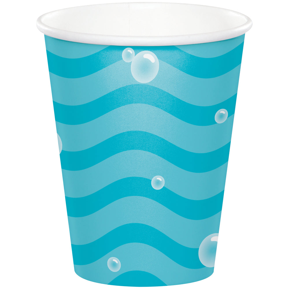 Sealife Sea Bubbles Paper Cups - 256ml - Pack of 8