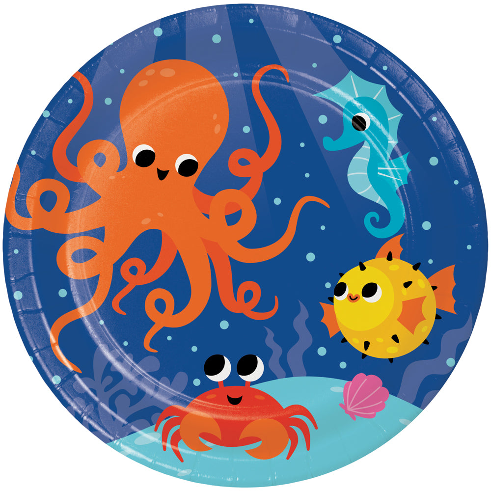 Sealife Plates - 22cm - Pack of 8