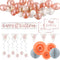40th Birthday Rose Gold Glitz Decoration Pack
