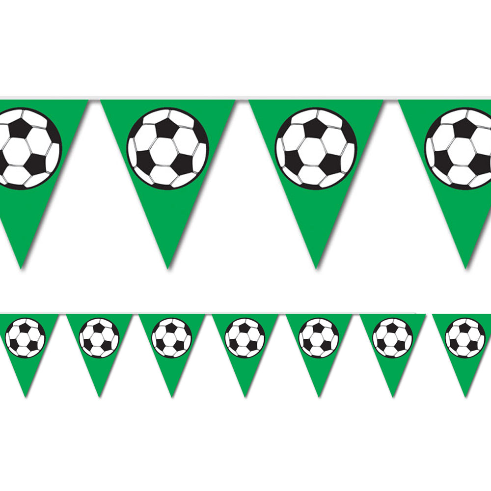 Soccer Ball  'All Weather' Bunting - 3.7m (12') - 12 flags